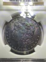 1884 O MORGAN SILVER DOLLAR MS64   CRAZY TONED  SEE VIDEO