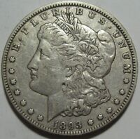 1893-O EXTRA FINE  MORGAN DOLLAR,  DETAILS & SUPER EYE APPEAL, SHIPS FREE
