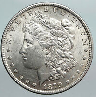 1879P UNITED STATES OF AMERICA MORGAN EAGLE VINTAGE SILVER US DOLLAR COIN I90366