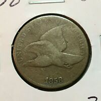 1858  VG   FLYING EAGLE CENT    COIN