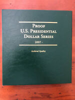 2007-2016 PROOF PRESIDENTIAL DOLLARS COMPLETE 10 YEAR SET -  39 PCS LCA71 ALBUM