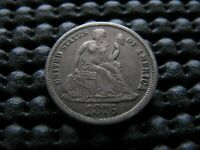 1876-S SEATED DIME WITH  TYPE 2 REVERSE