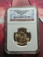 2010 D FRANKLIN PIERCE DOLLAR NGC MINT STATE 67 $1