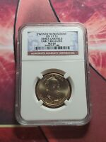 2011 D JAMES GARFIELD DOLLAR NGC MINT STATE 66 EARLY RELEASE $1