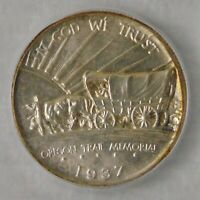 1937 D OREGON TRAIL COMMEMORATIVE SILVER HALF DOLLAR  ICG MINT STATE 66,  COIN