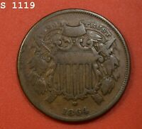 1864 SD TWO-CENT PIECE