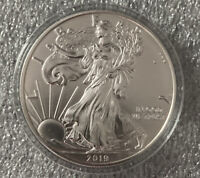 2019 AMERICAN SILVER EAGLE COIN CLEANED LOT OF 2
