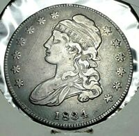 1834 CAPPED BUST HALF DOLLAR SMALL DATE SMALL STAR CIRCULATE