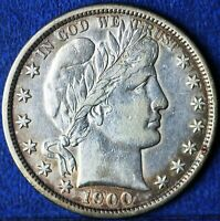 1900 BARBER HALF DOLLAR IN ALMOST UNCIRCULATED CONDITION