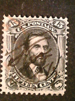 U S STAMPS SCOTT 98 FIFTEEN CENT LINCOLN F GRILL USED CV 275