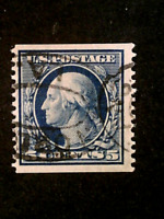 U S STAMPS SCOTT 355 FIVE CENT WASHINGTON COIL ISSUE USED CV