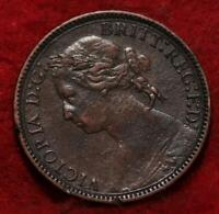 1875 GREAT BRITAIN FARTHING FOREIGN COIN