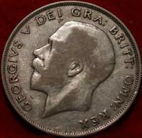 1924 GREAT BRITAIN HALF CROWN SILVER FOREIGN COIN