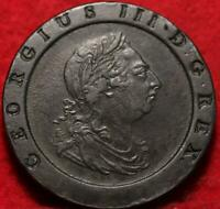 1797 GREAT BRITAIN 2 PENCE FOREIGN COIN