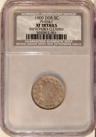 1900 DDR 5C NCS NGC EXTRA FINE  DETAILS FS-801 FS-014.7   LIBERTY NICKEL VARIETY