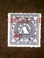 U S STAMPS REVENUES SCOTT RF18 PLAYING CARDS 8 CENT SURCHARG