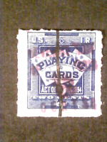 U S STAMPS REVENUES SCOTT RF14  PLAYING CARDS ACT 1918 8 CEN
