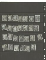 U S STAMPS SCOTT 73 TWO CENT BLACK JACKS USE LOT OF 27 ITEMS