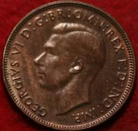 UNCIRCULATED 1942 AUSTRALIA 1/2 PENNY FOREIGN COIN