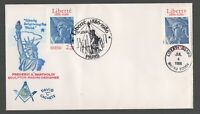 2224 22C STATUE OF LIBERTY JOINT W/FRANCE FDC DAVID
