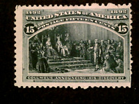U S STAMPS SCOTT 238 FIFTEEN CENT COLUMBIAN EXPO ISSUE MINT