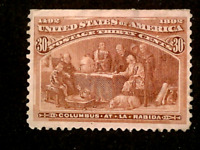 U S STAMPS SCOTT 239 THIRTY CENT COLUMBIAN EXPO ISSUE MINT C