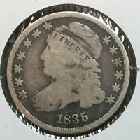1835  VG  CAPPED BUST DIME   COIN