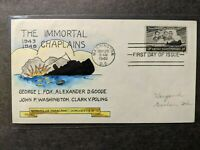 SS DORCHESTER FDC NAVAL COVER 1948 WEIGAND 35 HAND DRAWN CAC