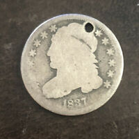 1837-P SILVER CAPPED BUST DIME.  LOW MINTAGE