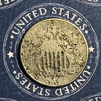 1867 SHIELD NICKEL. COLLECTOR COIN FOR YOUR SET OR COLLECTION. SHIPS FREE