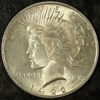 1922 P PEACE SILVER DOLLAR  ALMOST UNCIRCULATED  GREAT SET FILLER 405