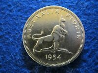 ONE YEAR TYPE - AUSTRALIA SILVER FLORIN - EXTRA FINE - OLD GOLD PLATED?