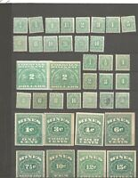 U S STAMPS SCOTT RE SERIES WINE STAMP REVENUES COLLECTION OF