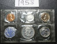 1958 P US MINT PROOF SET HAS 3 X 90  SILVER COINS ALL UNCIRC