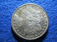 1897 S MORGAN SILVER DOLLAR -   - LUSTROUS TONED ABOUT UNCIRCULATED   READ