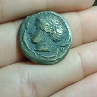 UNRESEARCHED ANCIENT ROMAN AR SILVER STATER OR DRACHM COIN 7