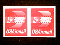 U S STAMPS EFO SCOTT C83A THIRTEEN CENT AIRMAIL IMPERFORATE