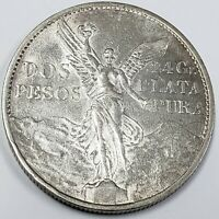 1921 MEXICO DOS 2 PESOS SILVER WINGED VICTORY 100TH ANNIVERS
