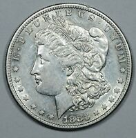 1883-S MORGAN SILVER DOLLAR AU ABOUT UNCIRUCLATED FLASHY LUSTROUS COIN