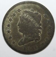 1810 CLASSIC HEAD LARGE CENT. 100 COPPER  SHIPS FREE
