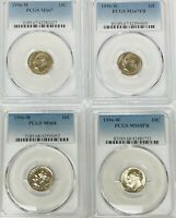 1996 W ROOSEVELT DIME PCGS MS67 MS67FB MS68 MS68FB    4 COIN