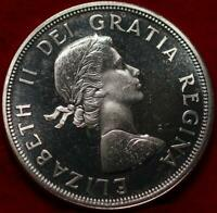 UNCIRCULATED PROOF 1964 CANADA SILVER ONE DOLLAR FOREIGN COI