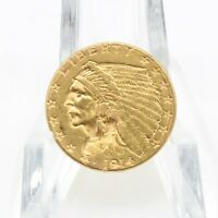 1914 UNITED STATES $2.50 INDIAN HEAD QUARTER EAGLE GOLD COIN