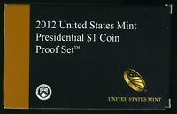 2012 S UNITED STATES MINT PRESIDENTIAL $1 COIN PROOF SET W/