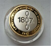 2007 ROYAL MINT SILVER PROOF 2 BICENTENARY OF ABOLITION OF S