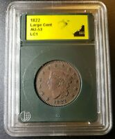 1822 CORONET HEAD LARGE CENT -  UNCIRCULATED | REVERSE MINT ERROR US COIN