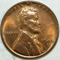 1946 D LINCOLN CENT  UNCIRCULATED  GREAT SET FILLER 499