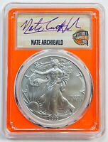 2020-P $1 SILVER EAGLE PCGS MS70 EMERGENCY ISSUE FDI NATE ARCHIBALD 1 OF 24