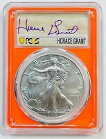 2020-P $1 SILVER EAGLE PCGS MS70 EMERGENCY ISSUE FDI HORACE GRANT 1 OF 24