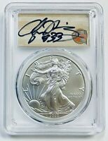 2020-P $1 SILVER EAGLE PCGS MS70 STRUCK AT PHILA ALONZO MOURNING SIG HOF LABEL